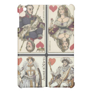 Vintage Playing Cards - Kings and Queens of Hearts Cover For The iPad Mini
