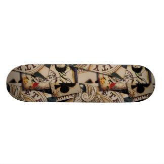 vintage playing cards skateboard