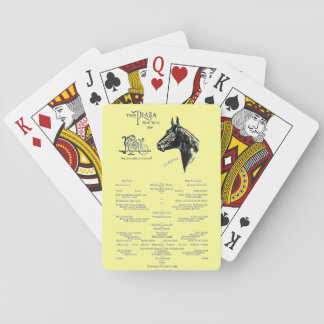 """Vintage-Plaza Hotel Menu"" Playing Cards"