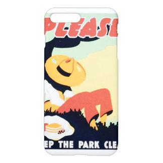 Vintage Please Keep the Park Clean WPA iPhone 7 Plus Case