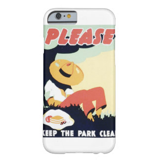 Vintage Please Keep the Park Clean WPA Poster Barely There iPhone 6 Case