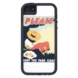 Vintage Please Keep the Park Clean WPA Poster Case For iPhone SE/5/5s