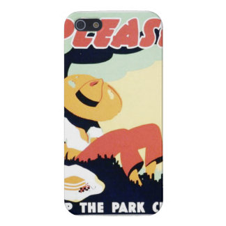 Vintage Please Keep the Park Clean WPA Poster Cover For iPhone SE/5/5s