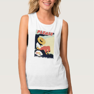 Vintage Please Keep the Park Clean WPA Poster Tank Top