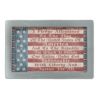 Vintage Pledge Of Allegiance Belt Buckles