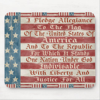 Vintage Pledge Of Allegiance Mouse Pad