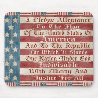 Vintage Pledge Of Allegiance Mouse Pads