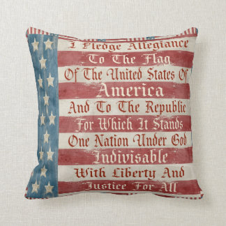 Vintage Pledge Of Allegiance Pillow