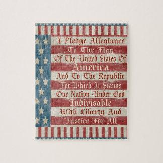 Vintage Pledge of Allegiance Puzzle