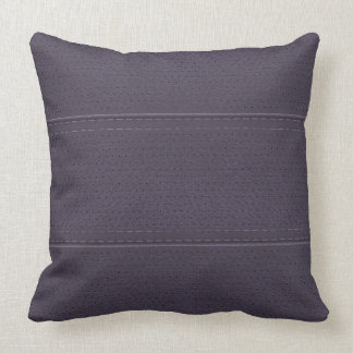 Vintage Plum Purple Worn-Out Faux Leather Look Throw Pillow