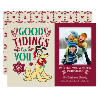 Vintage Pluto | Good Tidings to You Card