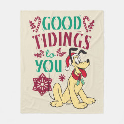 Vintage Pluto | Good Tidings to You Fleece Blanket