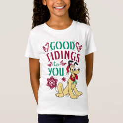 Girls' Fine Jersey T-Shirt with Pluto design