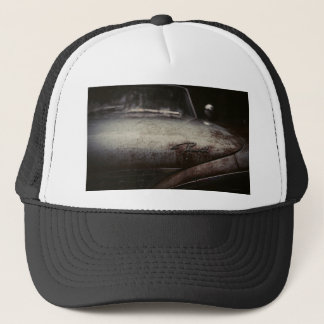 Vintage Plymouth Auto Rusted Artsy Imagery Detroit Trucker Hat