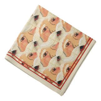 Vintage Plywood Santa Face Wallpaper Pattern Bandana