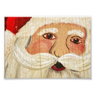 Vintage Plywood Santa Photo