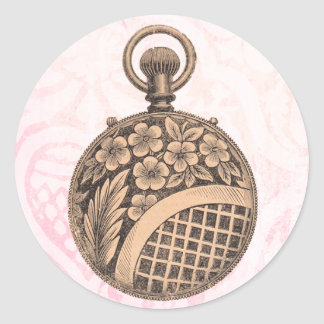 Vintage Pocket-watch Classic Round Sticker