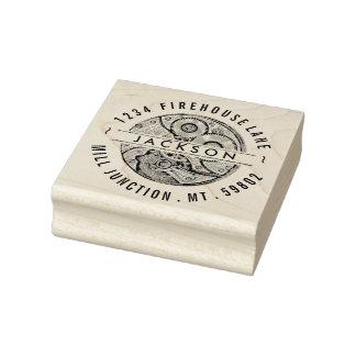 Vintage Pocket Watch Gear Return Address Stamp