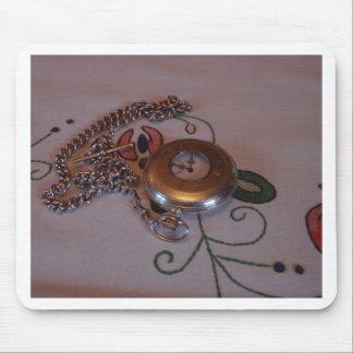 Vintage Pocket Watch Mousepads