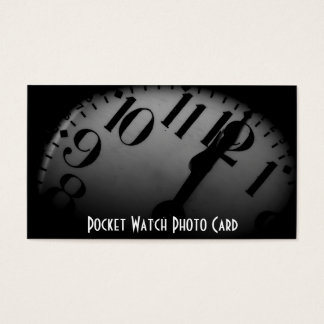 Vintage Pocket Watch Photo Business Card Template