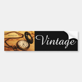 Vintage pocket watch photography bumper sticker