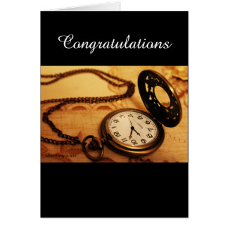 Vintage pocket watch photography card