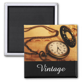 Vintage pocket watch photography magnet