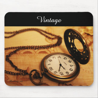 Vintage pocket watch photography mousepad