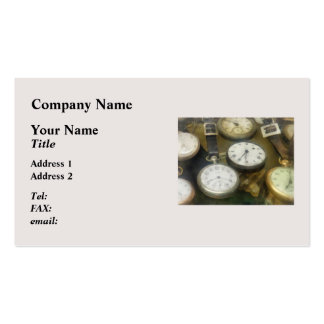 Vintage Pocket Watches Double-Sided Standard Business Cards (Pack Of 100)