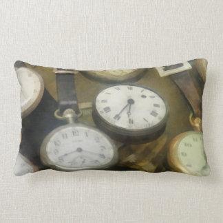 Vintage Pocket Watches Lumbar Pillow