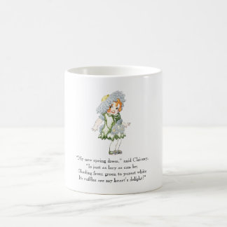 Vintage Poem Chicory Rhyme Cute Little Girl Coffee Mug