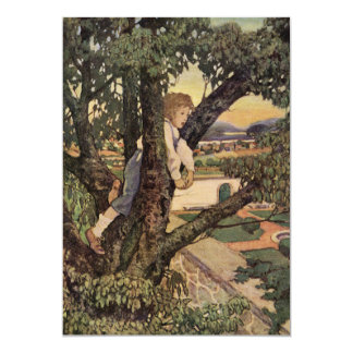 Vintage Poem, Foreign Land by Jessie Willcox Smith Card