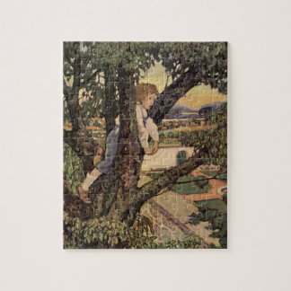 Vintage Poem, Foreign Land by Jessie Willcox Smith Jigsaw Puzzle