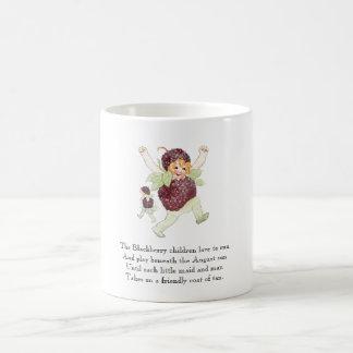 Vintage Poem Fruit Rhyme Blackberry Children Funny Coffee Mug