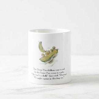 Vintage Poem Green Pea Cute Kids Vegetables Coffee Mug