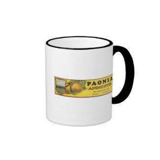 Vintage Poenia Apricots Crate Label, The Union Fru Ringer Coffee Mug