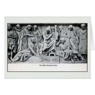 Vintage Poets section, Albert Memorial London Card
