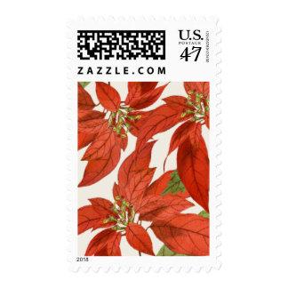 Vintage Poinsettia Stamp