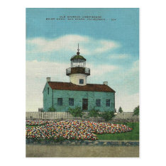 Vintage Point Loma Lighthouse San Diego California Postcard at Zazzle