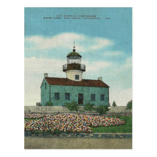 Vintage Point Loma Lighthouse San Diego California Postcard