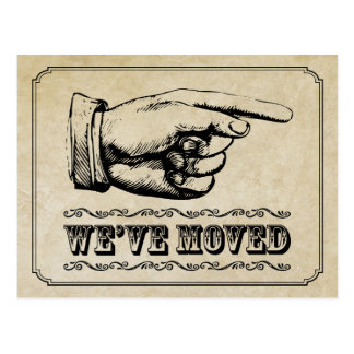 Vintage Pointer Moving Announcement Postcard