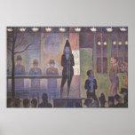 Vintage Pointillism Art, Circus Sideshow by Seurat Poster