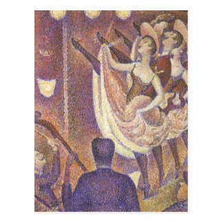 Vintage Pointillism, The Can Can Dance by Seurat Postcard