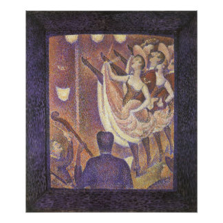 Vintage Pointillism, The Can Can Dance by Seurat Poster