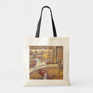 Vintage Pointillism, The Circus by Georges Seurat Budget Tote Bag