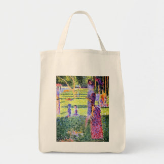 Vintage Pointillism, The Couple by Georges Seurat Tote Bag