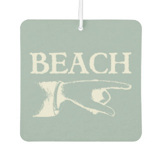 Vintage Pointing Beach Sign