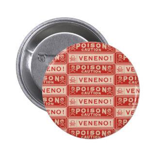 Vintage Poison Labels Button
