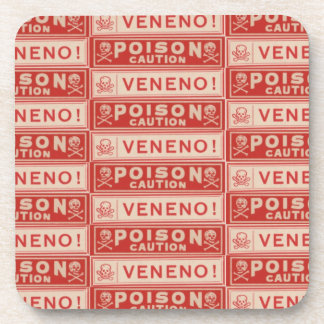 Vintage Poison Labels Drink Coasters