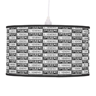 Vintage Poison Labels Hanging Pendant Lamp